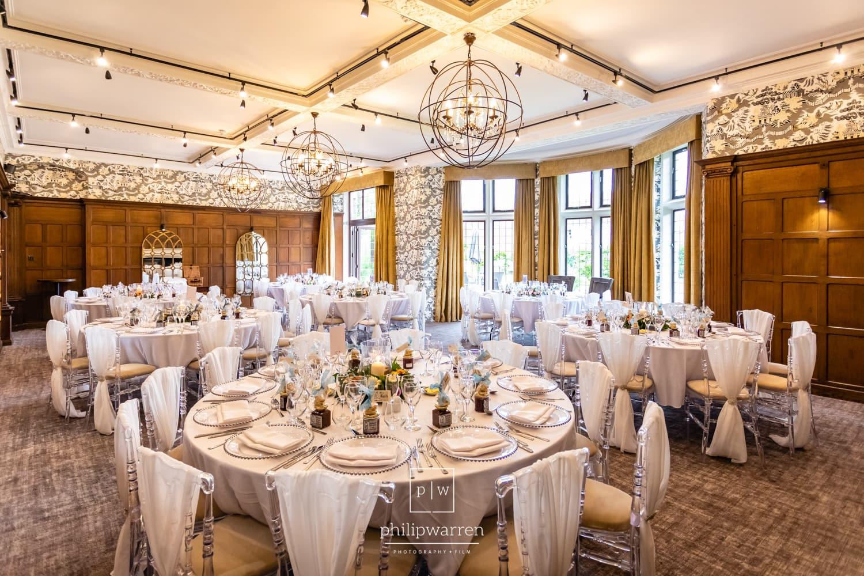 Reception Room At Lanelay Hall Wedding
