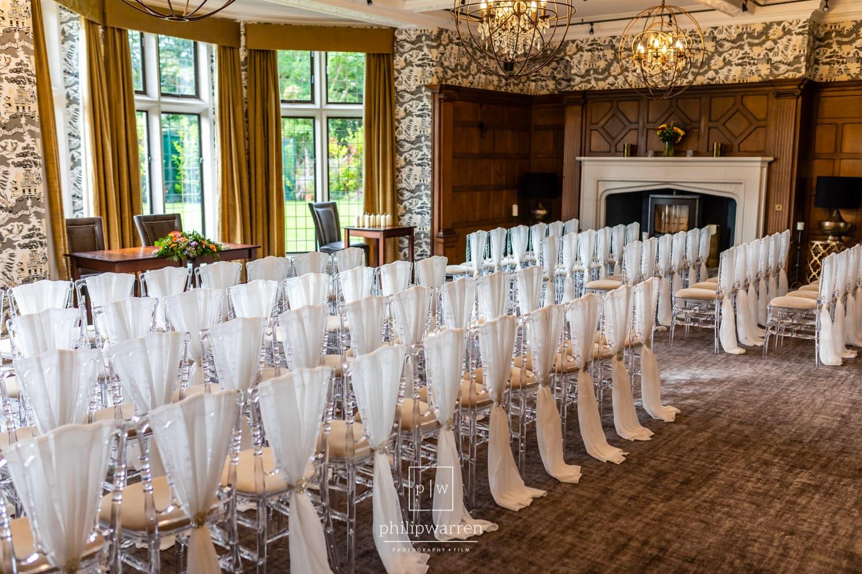 Ceremony Room At Lanelay Hall Wedding